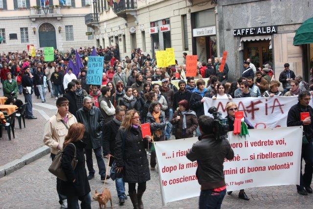 Lecco in piazza contro la 'Ndrangheta