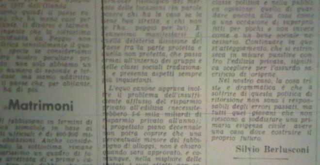 Berlusconi e Feltri firme sul Corriere della Sera. Era il 1978