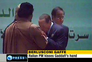 Gheddafi: «Abbiamo costretto l'Italia ad inchinarsi»