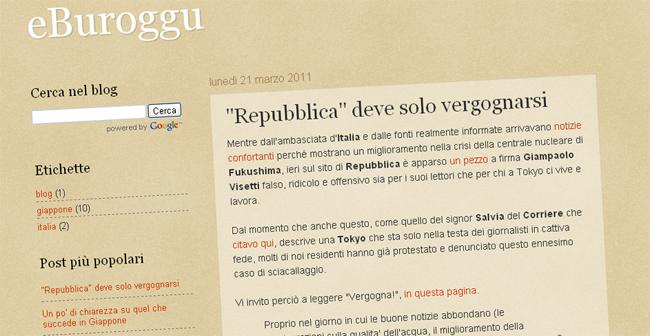 """Giappone: blogger contro i media, """"scrivono falsità"""". Tra i nomi anche Repubblica e Corriere"""