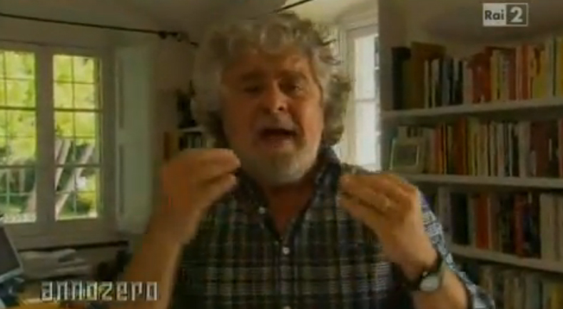 Annozero, Grillo contro i politici italiani