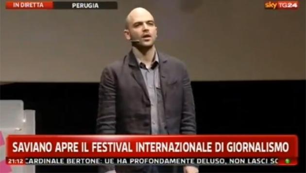 Roberto Saviano apre il Festival Internazionale del Giornalismo a Perugia