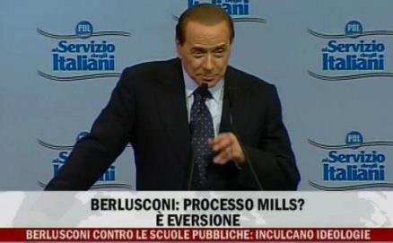 """Berlusconi a tutto campo contro la magistratura: """"eversiva"""""""