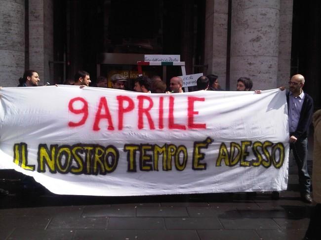 """Manifestazione 9 aprile: """"il nostro tempo è adesso"""""""