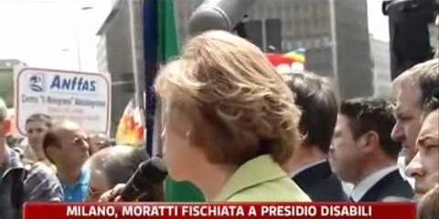 La Moratti torna in pubblico e viene fischiata