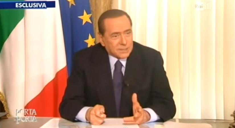 """Porta a porta, Berlusconi: """"Se lascio, Tremonti canditato"""""""