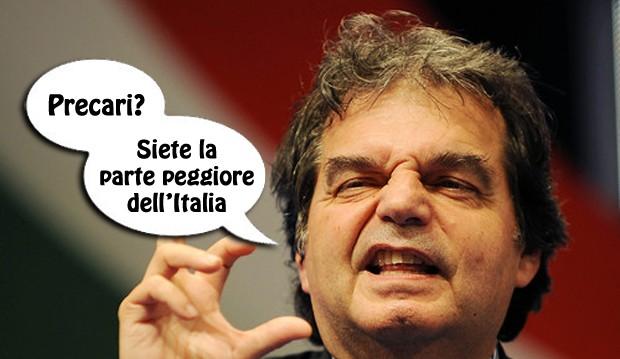 """Brunetta ai precari: """"siete l'Italia peggiore"""", e scappa dal convegno"""