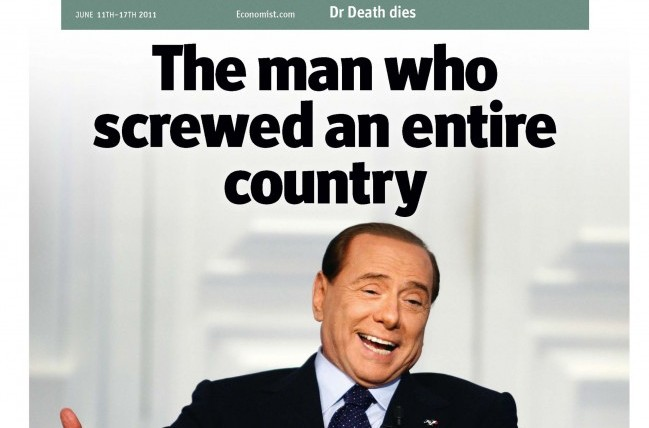 """L'Economist su Berlusconi: """"I suoi difetti? Le donne, gli imbrogli finanziari e il disprezzo per l'economia"""""""