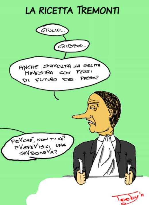 La ricetta Tremonti (vignetta)