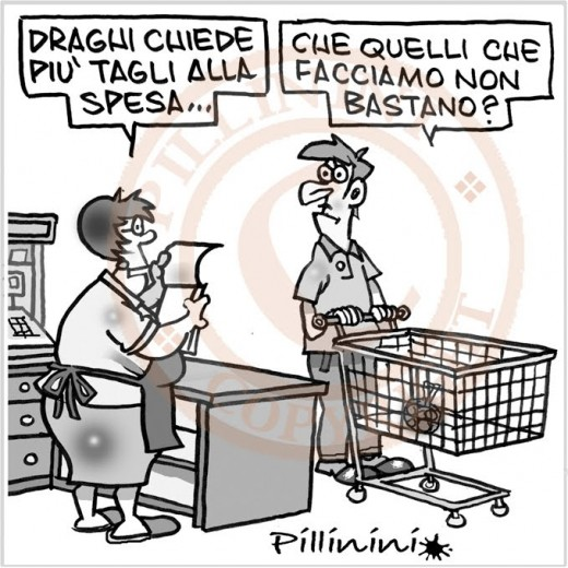 Tagli alla spesa (vignetta)