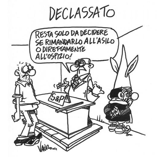 Italia declassata (vignetta)