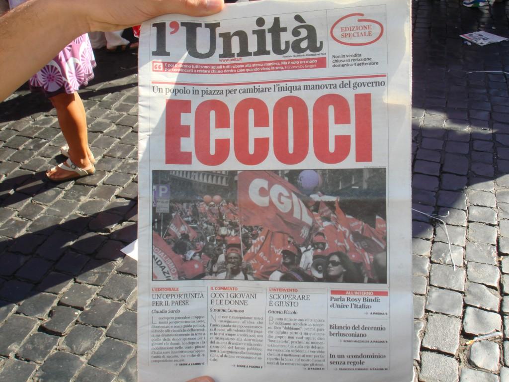 Sciopero Cgil, volti e slogan della manifestazione a Roma – Photogallery