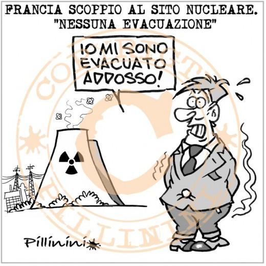 """Centrale nucleare in Francia: """"nessuna evacuazione"""" (vignetta)"""