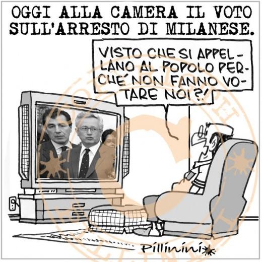 Oggi il voto su Milanese (vignetta)