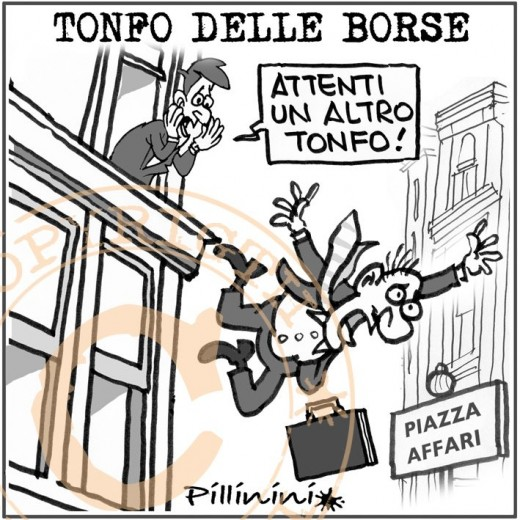 Crisi in borsa (vignetta)