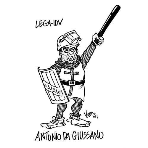 Lega ed Idv vogliono la legge Reale (vignetta)
