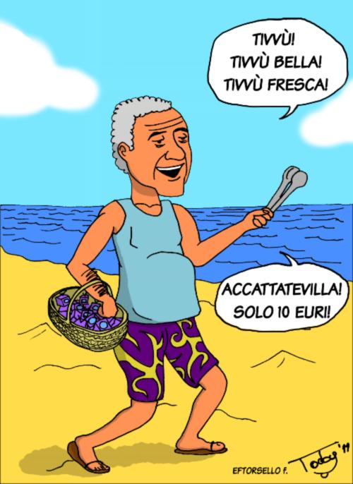 """Santoro lancia """"Servizio pubblico"""" (vignetta)"""