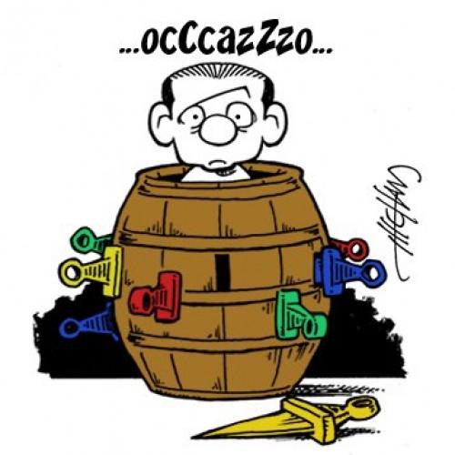 Berlusconi e il voto di fiducia (vignetta)