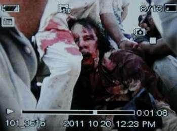 Ucciso Gheddafi, le prime fotografie – ATTENZIONE, immagini forti
