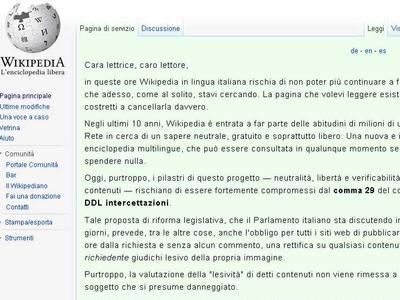 """Nonciclopedia riapre, Wikipedia chiude contro i rischi del """"bavaglio"""""""