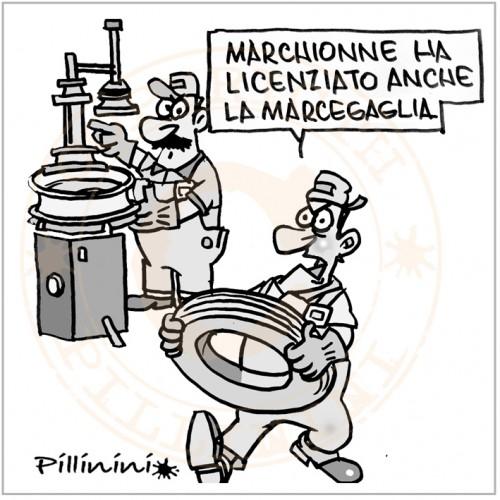 Marchionne lascia Confindustria (vignetta)