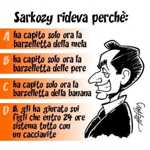Perchè rideva Sarkozy? (vignetta)