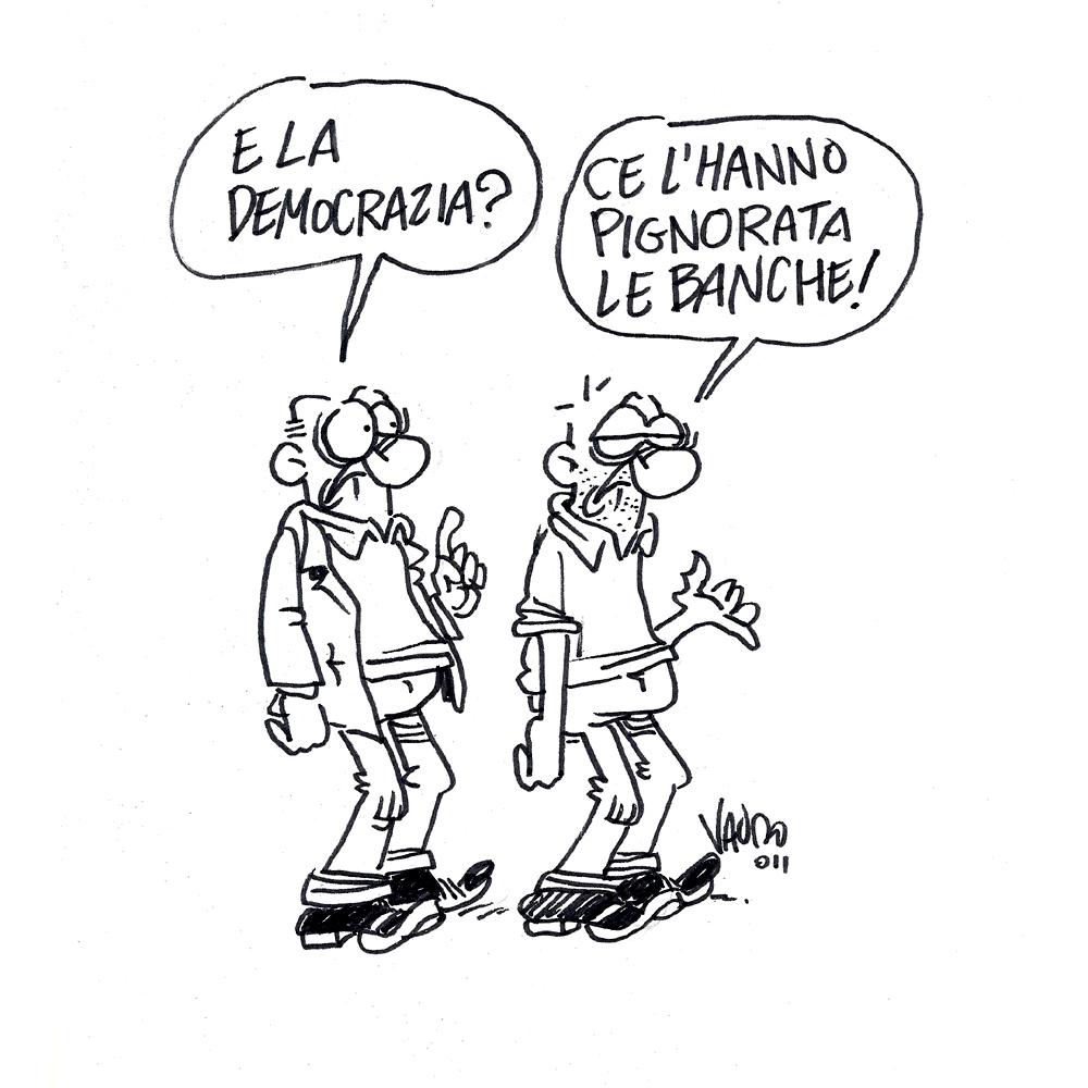 Democrazia in pericolo – vignetta