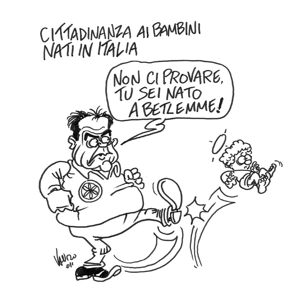 Cittadinanza agli stranieri – vignetta