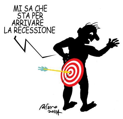L'Italia è entrata in recessione – vignetta
