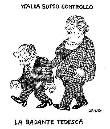 Italia commissariata dal FMI (vignetta)