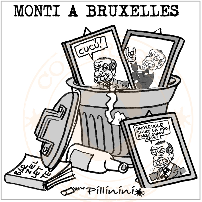 Monti a Bruxelles – vignetta