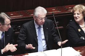 Governo, 556 sì per la fiducia a Monti – video