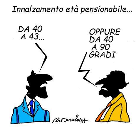 Innalzamento età pensionabile – vignetta
