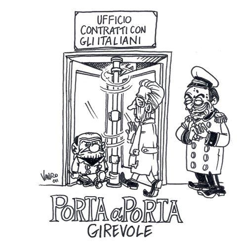 """Monti a """"Porta a porta"""" – vignetta"""