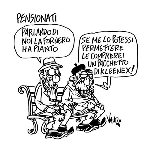 Le lacrime e le pensioni – vignetta