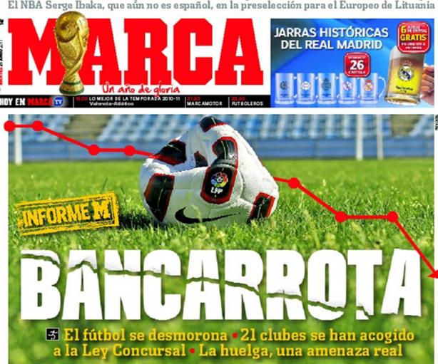 In Spagna la crisi non risparmia i Paperoni del calcio
