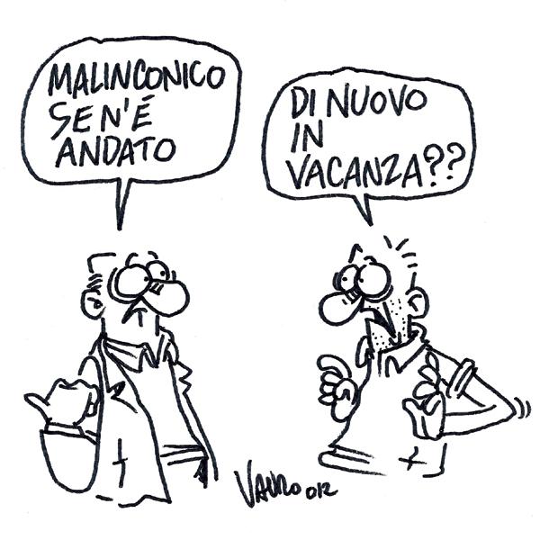 Malinconico lascia – vignetta