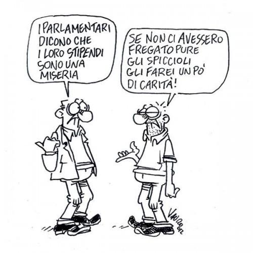 Gli stipendi dei parlamentari vignetta diritto di for Email senatori italiani