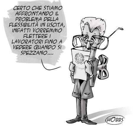 """La """"flessibilità in uscita"""" – Vignetta"""