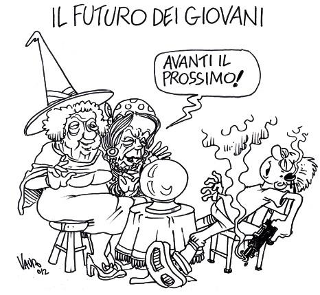 Il futuro dei giovani – vignetta