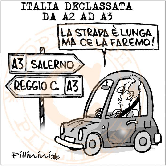 Italia declassata – vignetta