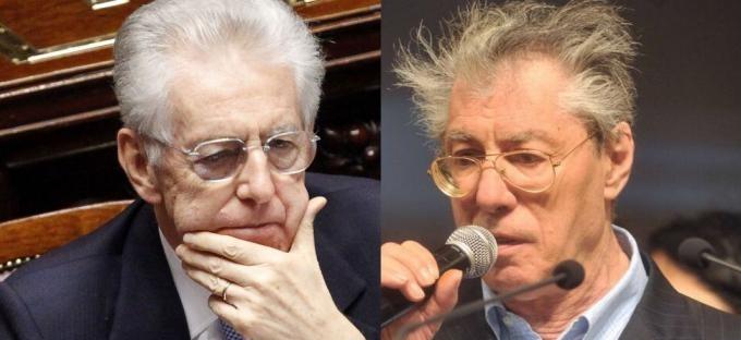 """Bossi minaccia Monti: """"Rischia la vita, il Nord lo farà fuori"""" – video"""