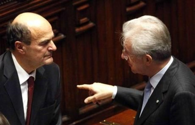"""Monti: """"partiti responsabili"""". Ma Bersani non si fida più"""