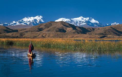 La lenta agonia del lago Titicaca