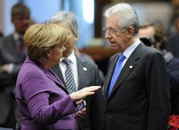 """""""Avremo presto gli Eurobond"""", Monti in pressing sulla Merkel"""