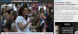 """""""Sono innamorata di Ezio Mauro!"""". E Repubblica la rilancia in homepage"""