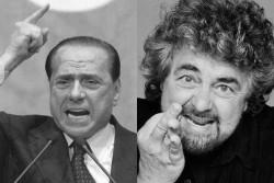 """Berlusconi imita Grillo, parla agli """"incazzati"""" e va contro la BCE"""