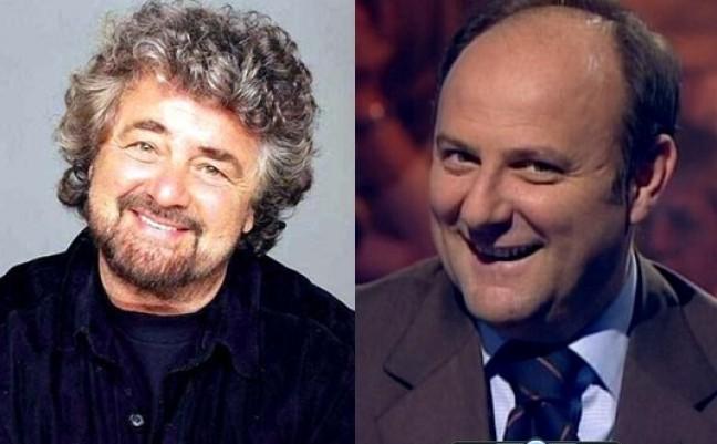 grillo scotti elezioni e1338899838200 Per frenare Grillo, il Cav pensa a Gerry Scotti