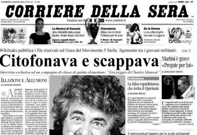 Grillo ironizza sul Corriere, ma i suoi fan non capiscono