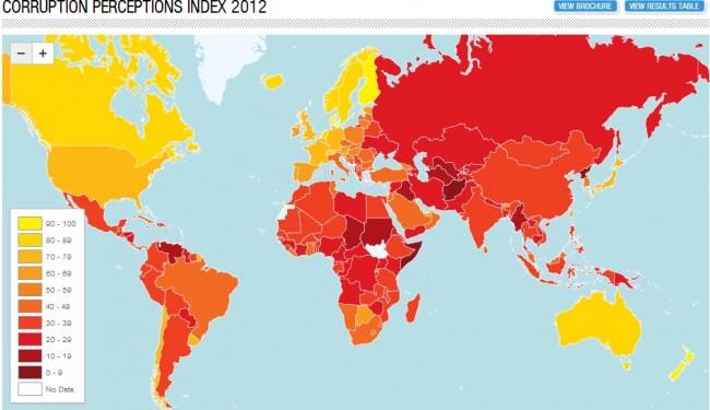 Corruzione, l'Italia 72esima: peggio del Ghana